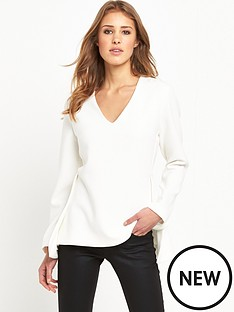 selected-femme-emma-v-neck-top-snow-white