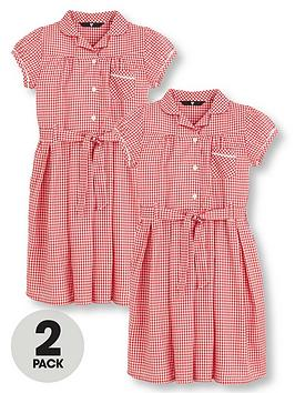 v-by-very-schoolwear-girls-traditional-gingham-school-dresses-red-2-pack