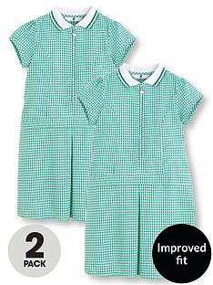 v-by-very-schoolwear-girls-pk2-rib-collar-gingham-dress