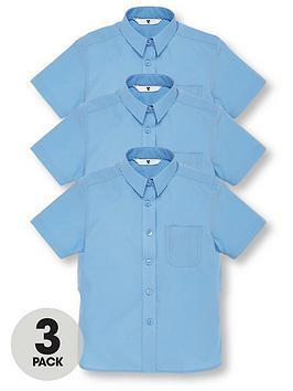 v-by-very-girls-3-pack-short-sleeve-school-shirts-blue