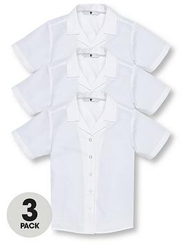 v-by-very-girls-3-pack-revere-collar-short-sleeve-school-shirts