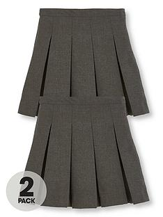 v-by-very-girls-2-pack-classic-pleated-woven-plus-fit-school-skirt-grey