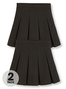 v-by-very-schoolwearnbspclassic-pleated-school-skirts-black-2-pack