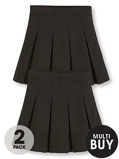 v-by-very-schoolwearnbspclassic-pleated-school-skirts-black-2-pack