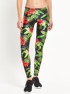 goldsheep-tropical-floral-yoga-legging