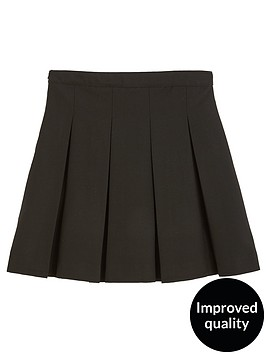 55e244b1f0 V by Very Girls 2 Pack Classic Pleated Woven School Skirts PLUS FIT ...