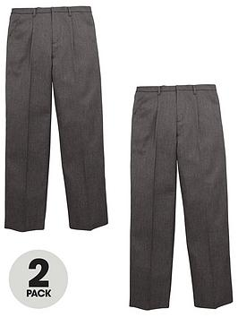 v-by-very-boys-2-pack-zip-front-school-trousers-grey