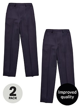 v-by-very-schoolwear-boys-2-pack-zip-front-trousers-navy