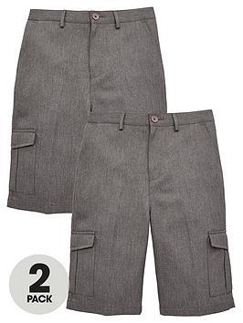 v-by-very-boys-2-pack-combat-school-shorts-grey