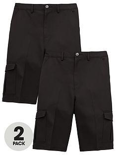 v-by-very-boys-2-pack-combat-school-shorts-black