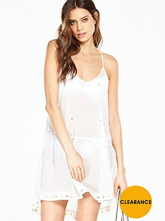 v-by-very-embroidered-mirror-detail-sheer-beach-dress