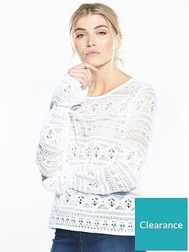 v-by-very-crochet-tie-cuff-jumper