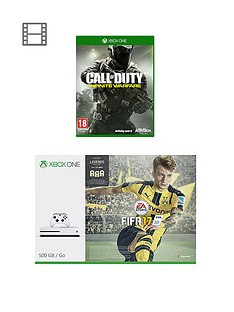 xbox-one-s-500gb-console-with-fifanbsp17-and-call-of-duty-infinite-warfare-plusnbspoptional-extra-controller-andor-12-months-live-subscription