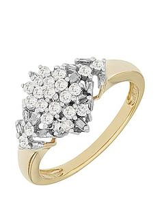 love-diamond-9ct-yellownbspgold-50-point-white-diamond-marquis-cluster-ring