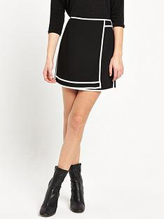 river-island-plain-sports-skirt-black