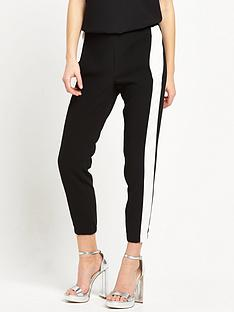 river-island-stripe-soft-trouser-black