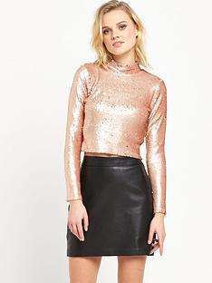 river-island-sequin-t-shirt-gold