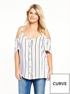 junarose-curve-cold-shoulder-stripe-top