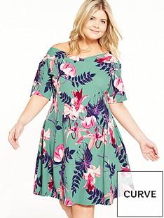 junarose-curve-floral-skater-dress