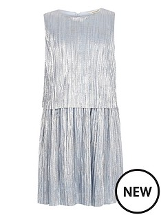 river-island-girls-metallic-blue-pleated-dress