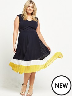 lost-ink-curve-pleated-skirt-dress