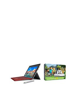 microsoft-surface-pro-4-intelreg-coretrade-i5-processor-8gb-ram-256gb-solid-state-drive-123-inch-tablet-with-xbox-one-s-500gb-console-and-minecraft-favourites