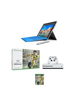 microsoft-microsoftnbspsurface-pro-4-intelreg-coretrade-i5-processor-8gb-ram-256gb-solid-state-drive-tablet-wi-fi-123-with-xbox-one-s-500gb-console-with-fifa