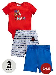 ladybird-baby-boysnbsp3pcnbspbodysuit-and-shorts-set