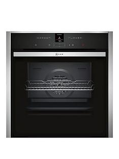 neff-b57cr22n0b-60cmnbspslideamphidereg-single-electric-oven-with-pyrolyticnbspself-cleaning-cyclenbsp--stainless-steel