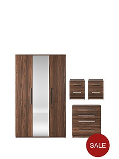 prague-4-piece-package-3-door-mirrored-wardrobe-4-drawer-chest-and-2-bedside-cabinets