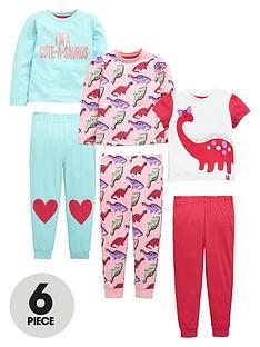 mini-v-by-very-toddler-girls-pretty-dino-pyjamas-6-piece