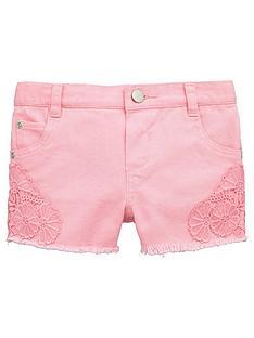 mini-v-by-very-toddler-girls-crochet-trim-denim-shorts-ndash-pink