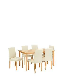 home-essentials--nbspprimo-150-cm-dining-table-6-faux-leather-chairs