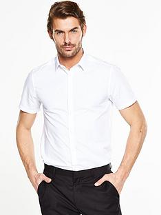 v-by-very-short-sleeve-slim-shirt-white
