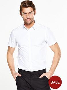 v-by-very-short-sleeve-slim-shirt-white