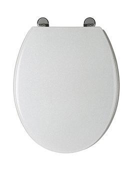 croydex-white-glitter-toilet-seat