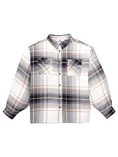 v-by-very-girls-batwing-check-shirt