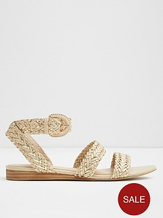 aldo-aldo-arionna-woven-flat-sandal-with-ankle-buckle-fastener