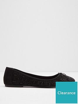 aldo-indro-mesh-round-toe-ballet-pumps-black