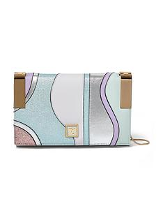 river-island-swirl-hinged-clutch