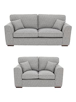 Rio 3 Seater 2 Standard Back Fabric Sofa Set And Save Littlewoodsireland Ie