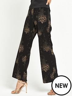 river-island-printed-wide-leg-trouser