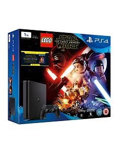 playstation-4-slim-1tb-console-with-lego-star-wars-force-awakens-the-force-awakens-blu-ray-plus-optional-extra-controller-andor-12-months-playstation-network