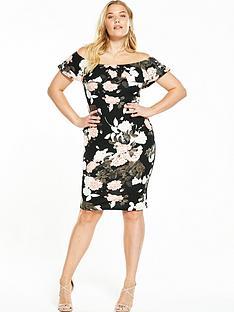 ax-paris-curve-bardotnbspmid-floral-dress