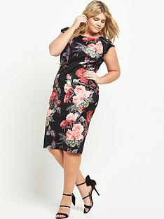 ax-paris-curve-curve-floral-printed-midi-dress