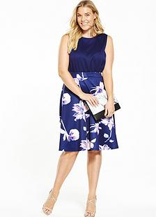 ax-paris-curve-2-in-1-midi-fit-and-flare-dress-navy