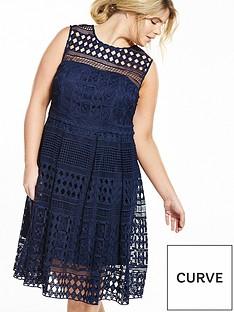 v-by-very-curve-curve-geo-lace-dress-navy
