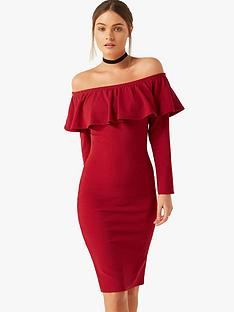 girls-on-film-bardot-ruffle-midi-dress