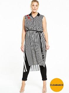 elvi-curve-stripe-sleevless-shirt-dress