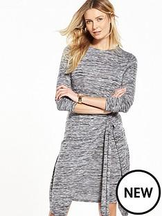 v-by-very-tie-detail-space-dye-dress